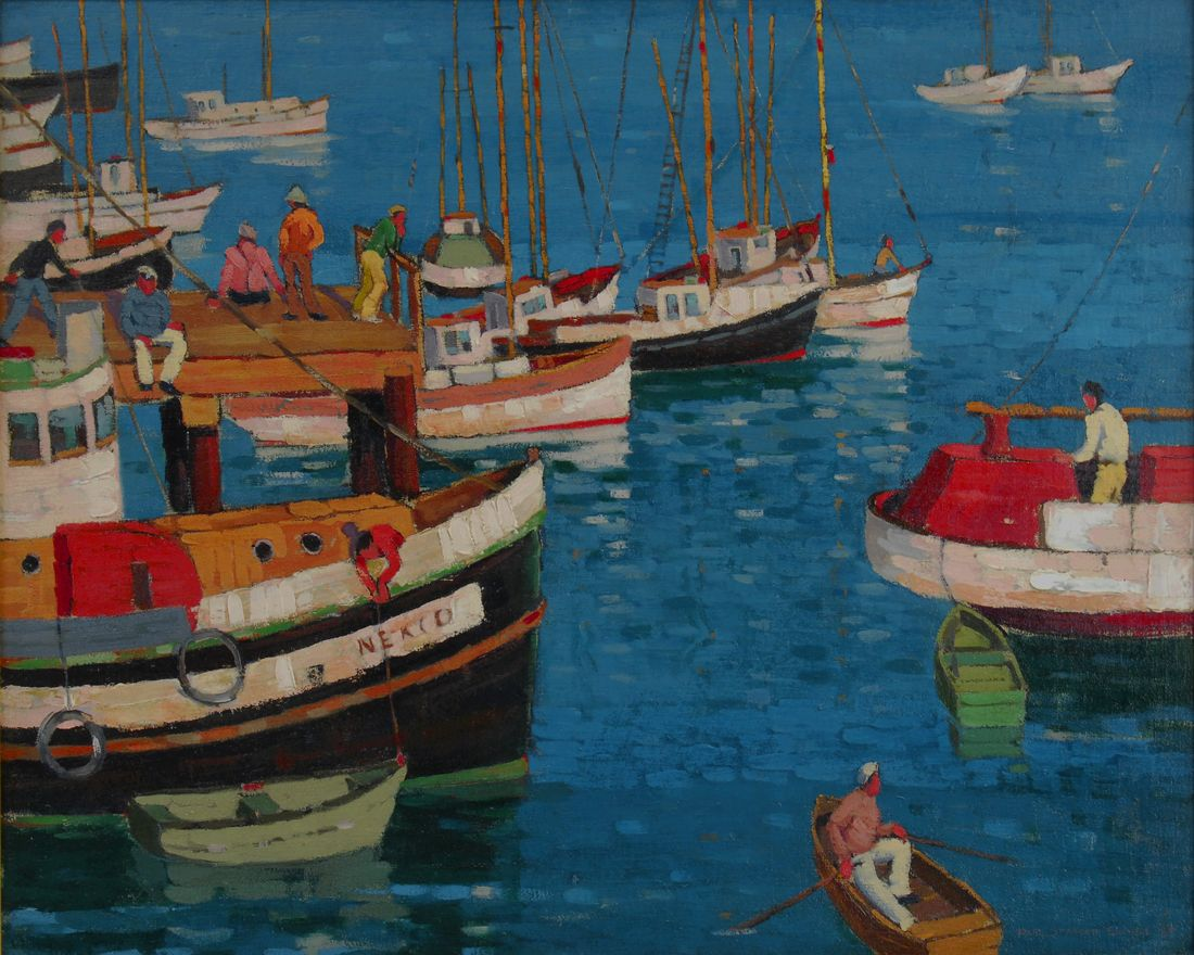 Paul Sample, Busy Harbor
