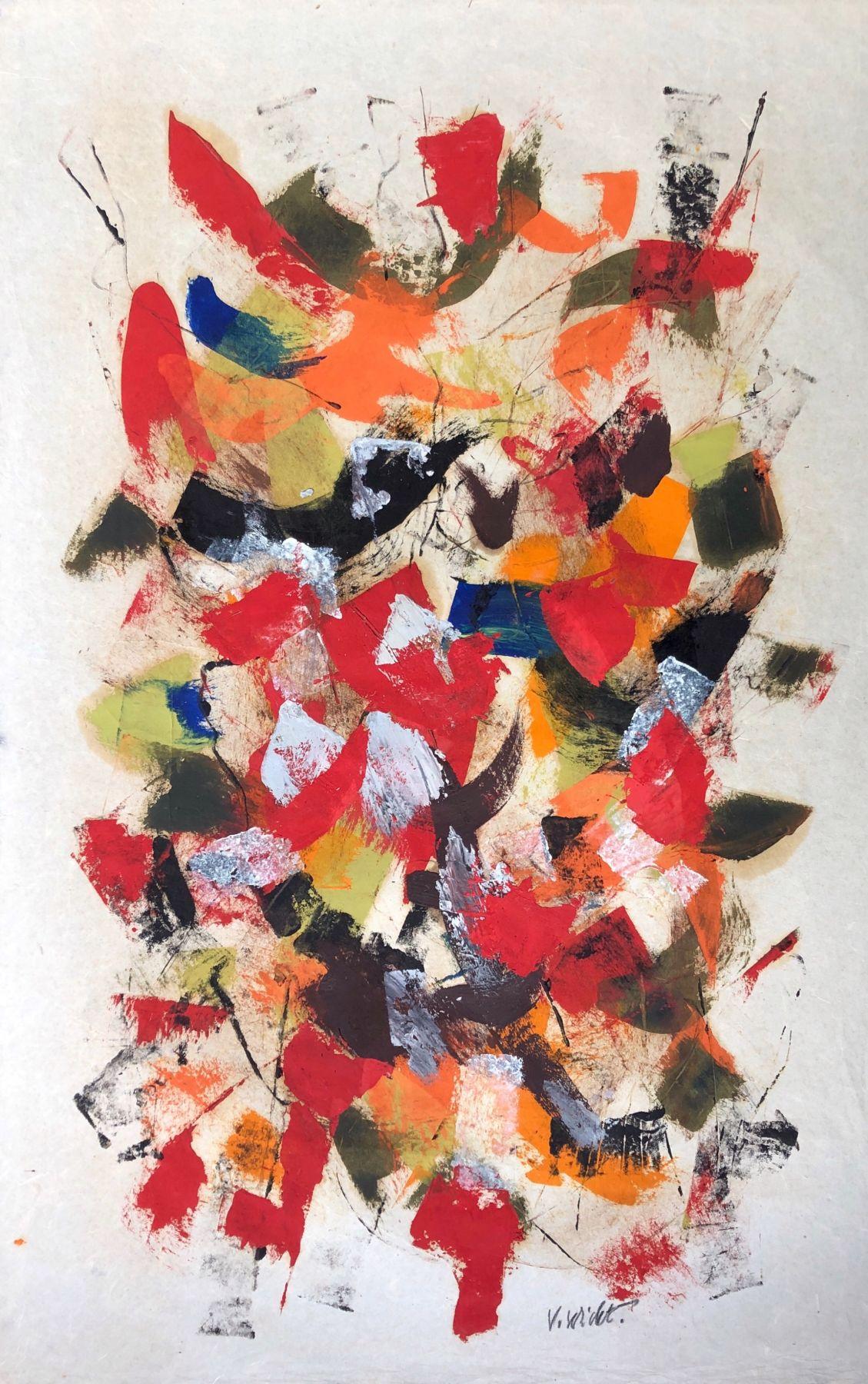 John Von Wicht untitled mixed media work on paper #VoJo110.
