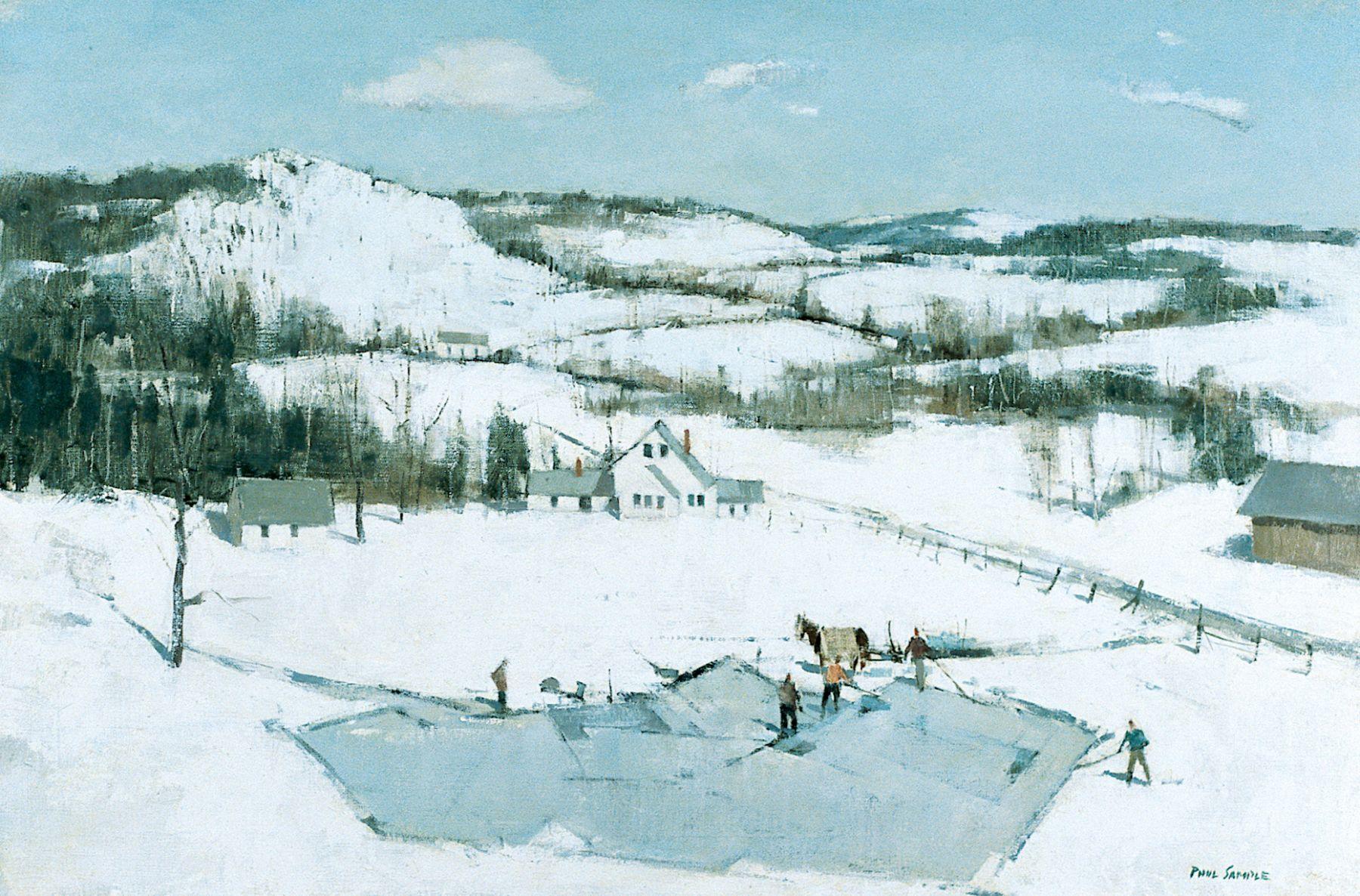Paul Sample, Ice Cutting