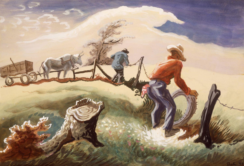 Thomas Hart Benton, Mending the Fence