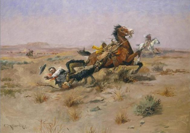 Charles Marion Russell, Incident Near Square Butte