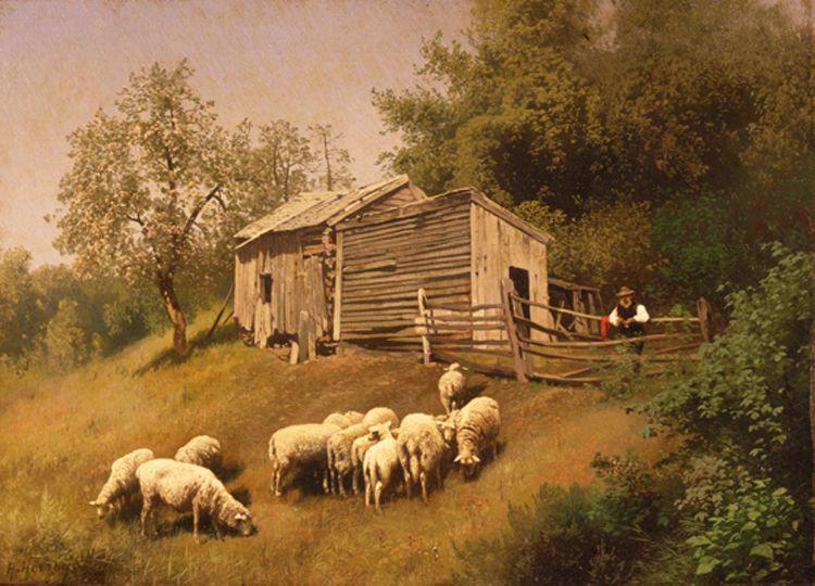 Hermann Herzog, Farm Scene