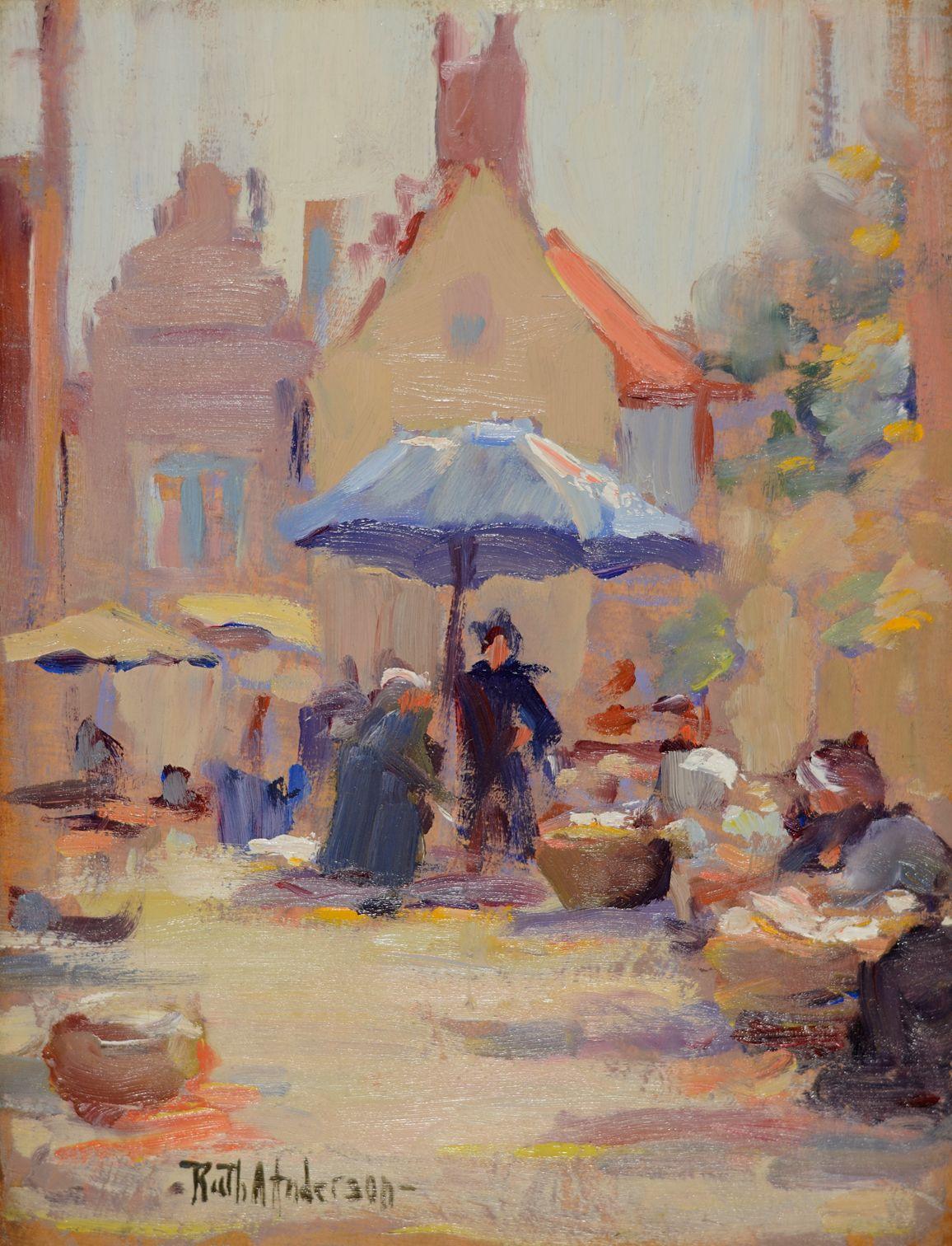 Ruth Anderson, Fish Market Bruges
