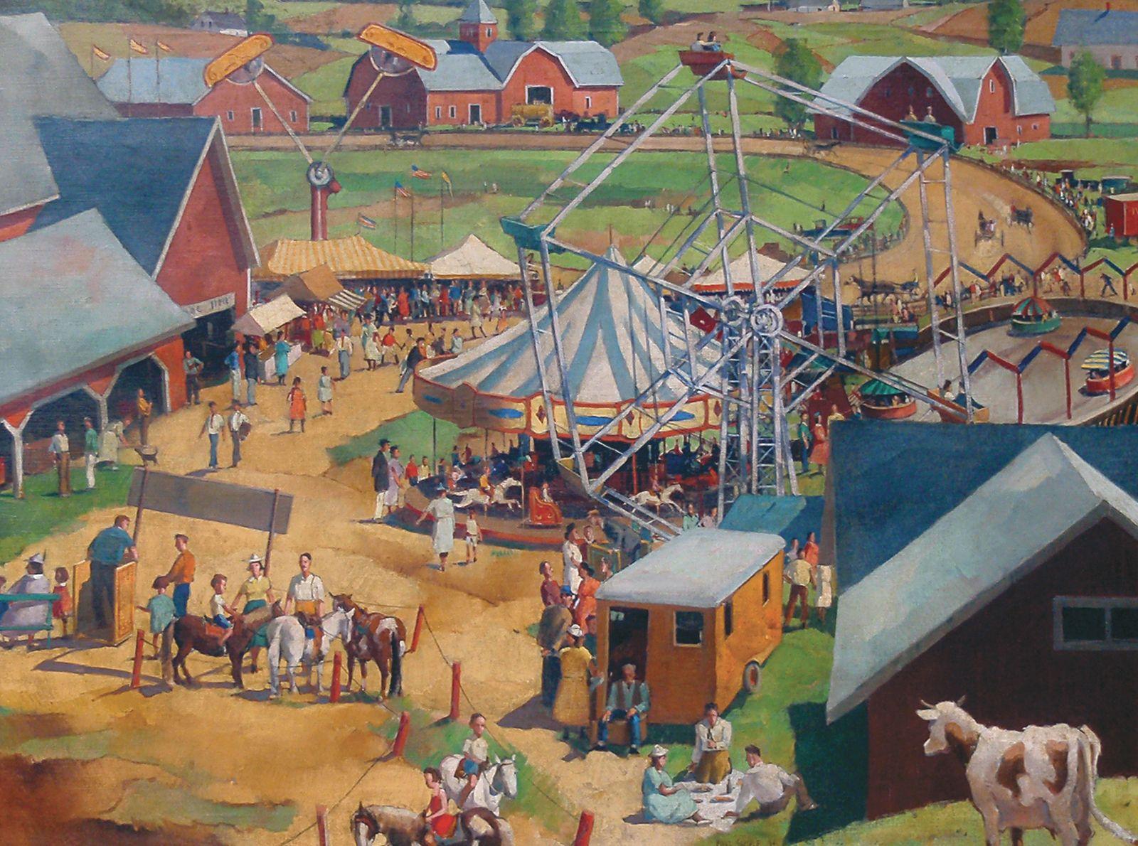 Paul Sample, Noon at the Fair