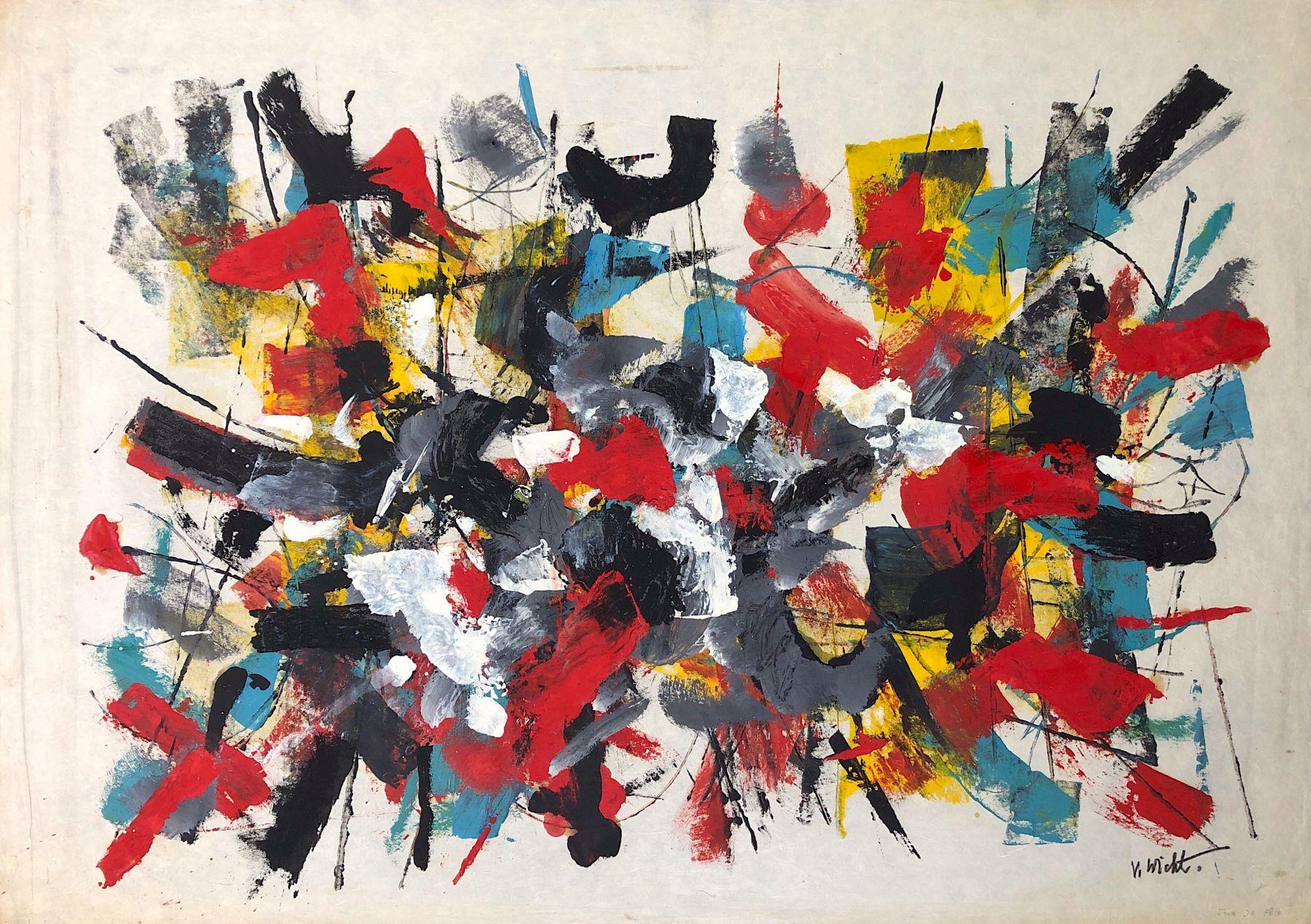 John Von Wicht untitled mixed media work on paper #VoJo127.