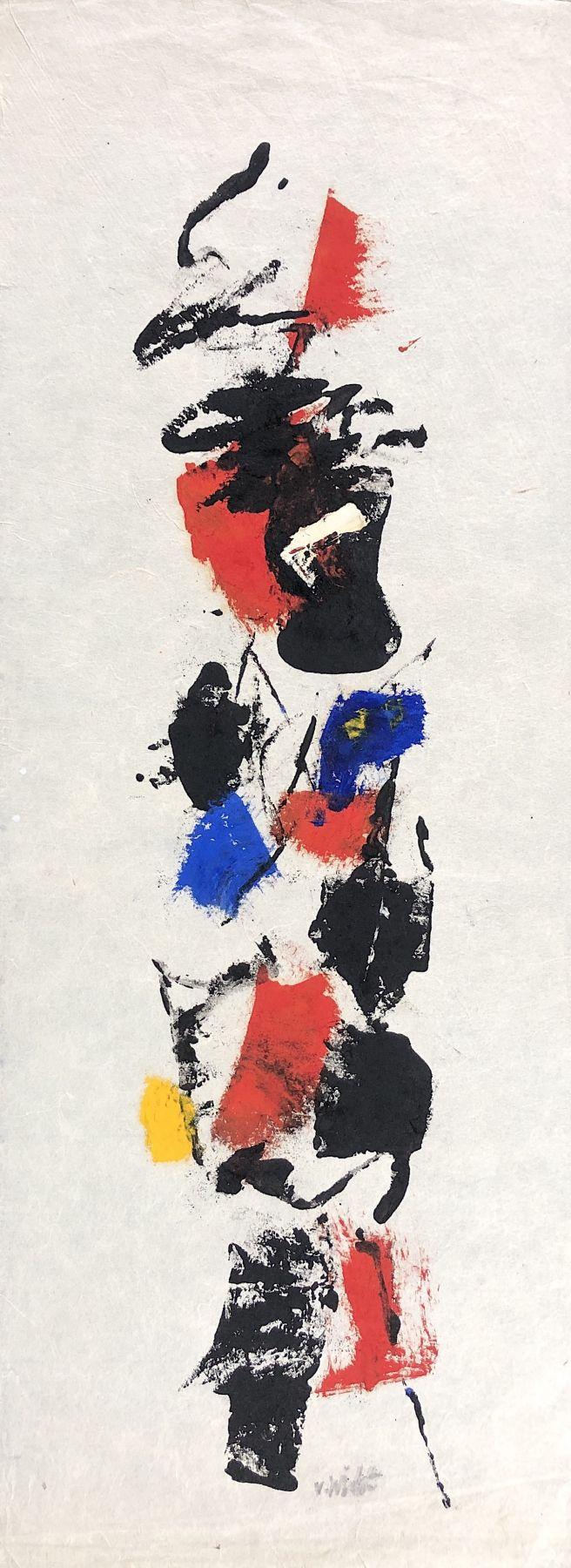 Sold untitled abstraction by John Von Wicht.