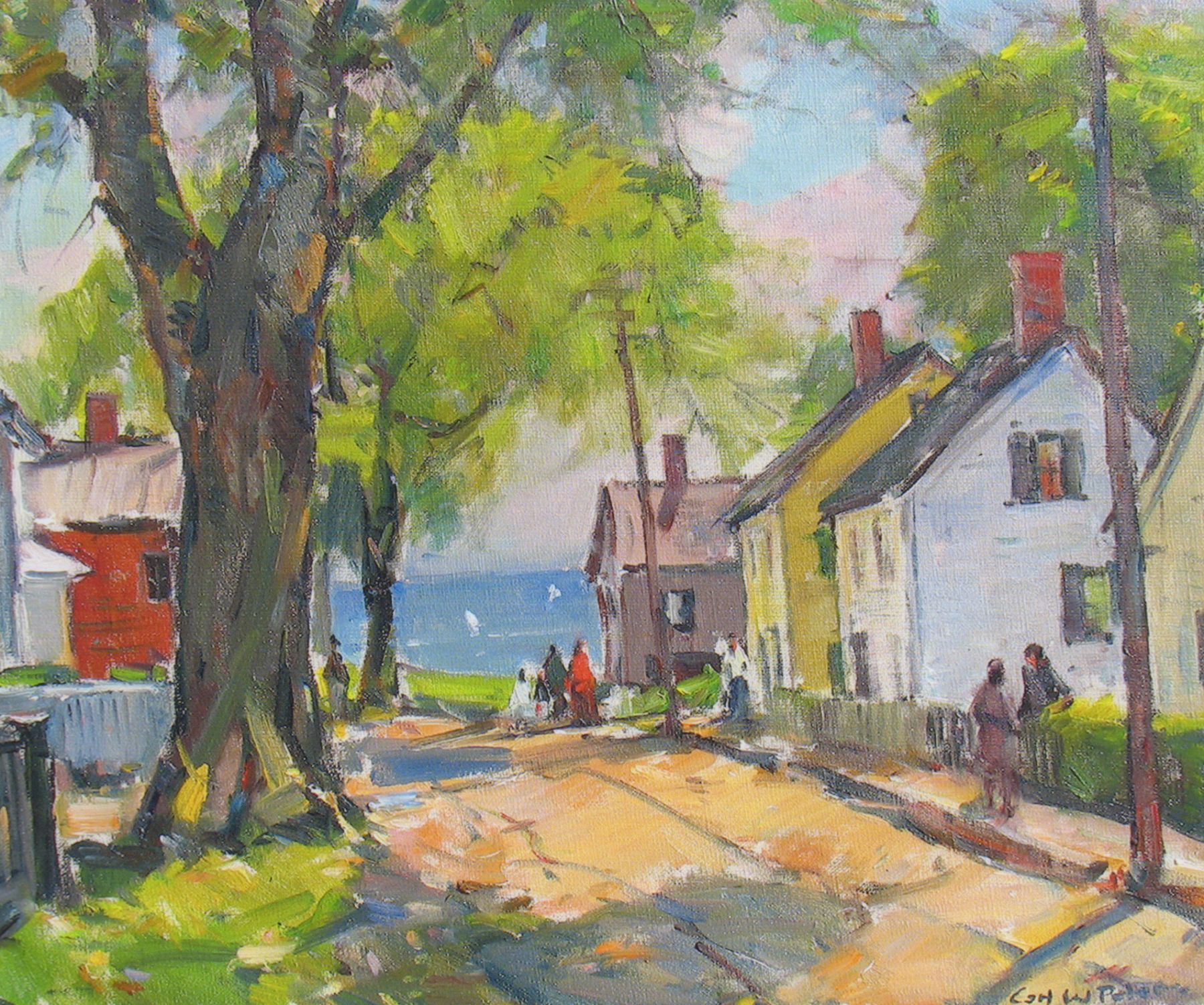 Carl Peters, New England Village