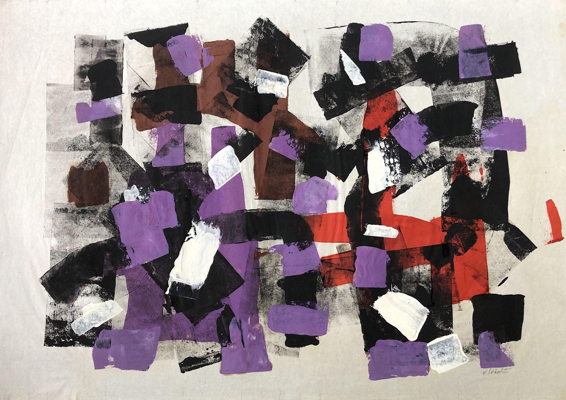 John Von Wicht untitled mixed media work on paper #VoJo131.