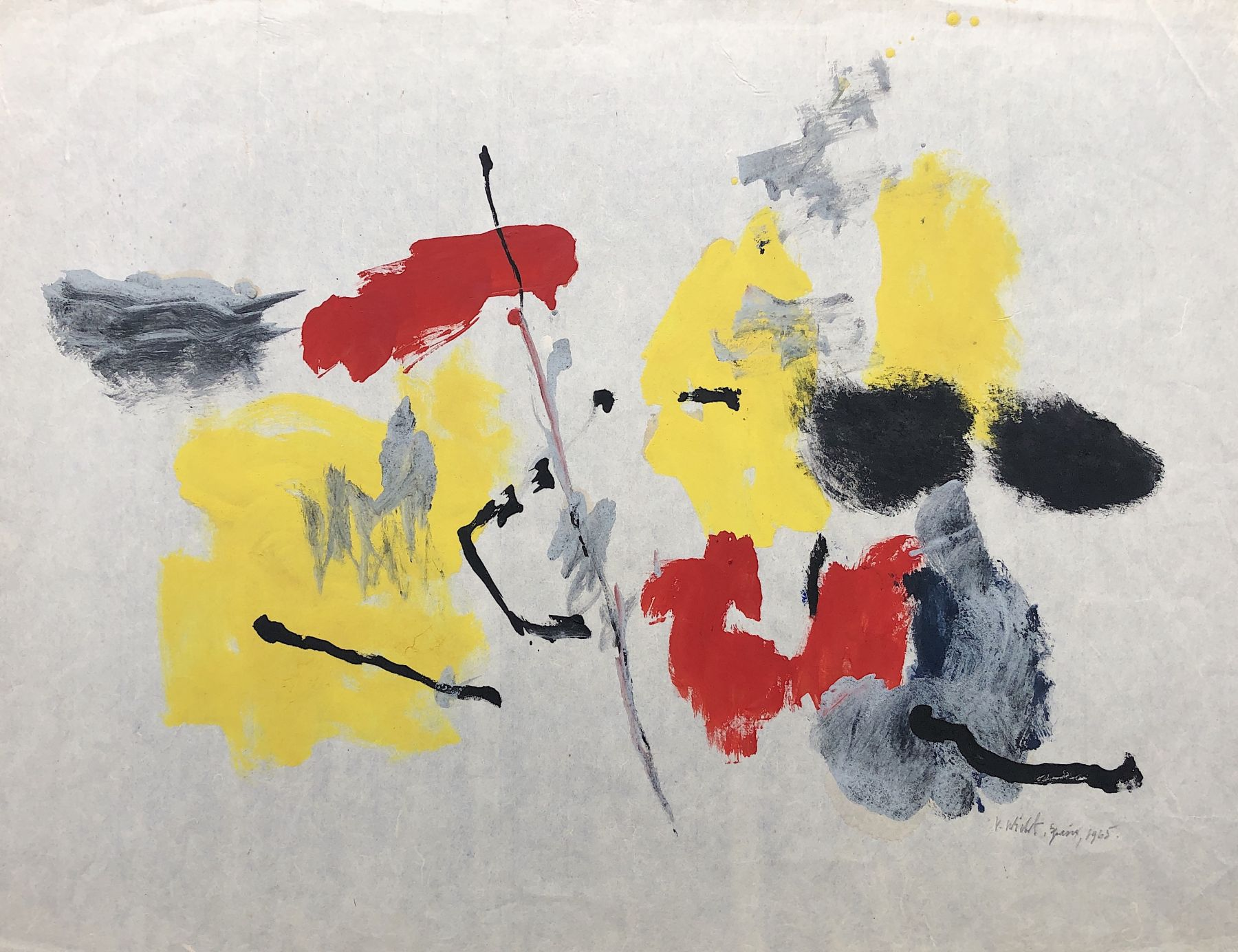 Sold untitled mixed media painting by John Von Wicht.