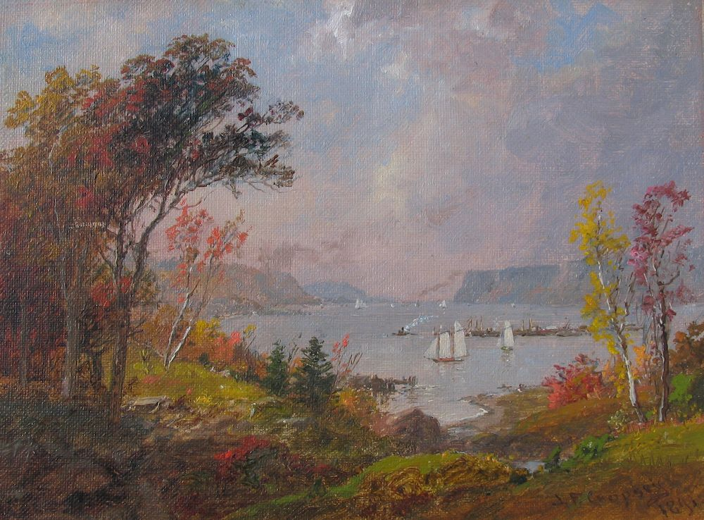 Jasper Cropsey, Hudson River from Hastings