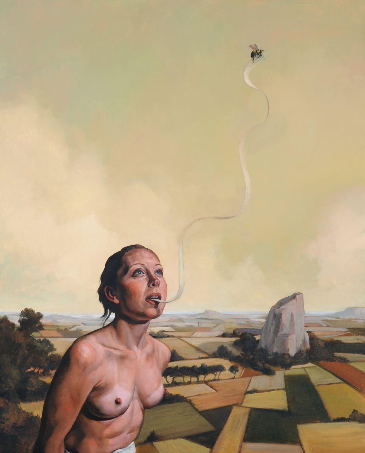 ERIK THOR SANDBERG  Eloquence  2009, oil on canvas, 30 x 24 inches.
