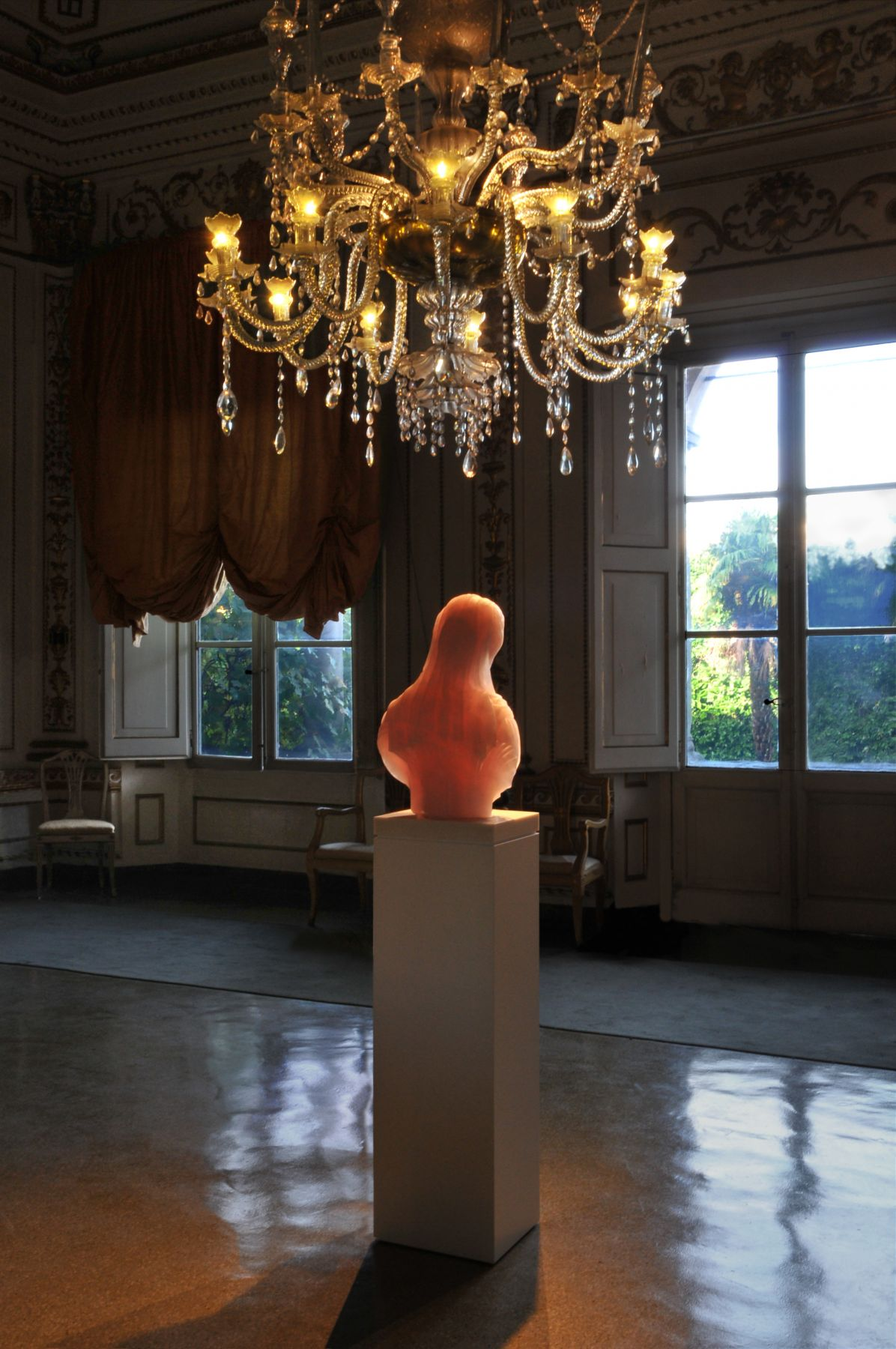 BARRY X BALL_Purity in Iranian Translucent Pink Onyx_The New Gallery--Palazzo Mansi, Lucca