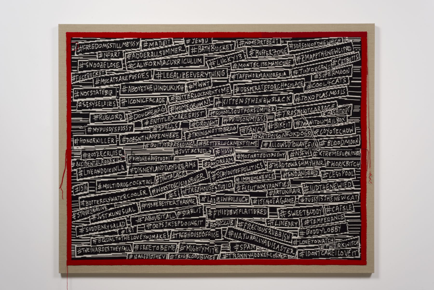 Lisa Anne Auerbach, #HASHINGITOUT, 2014