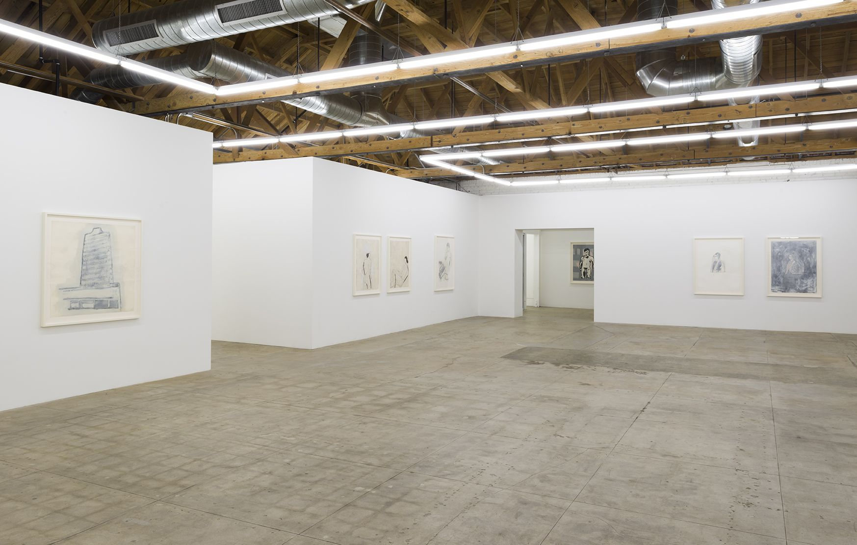 Installation of Donald Baechler Early Work 1980 - 1984
