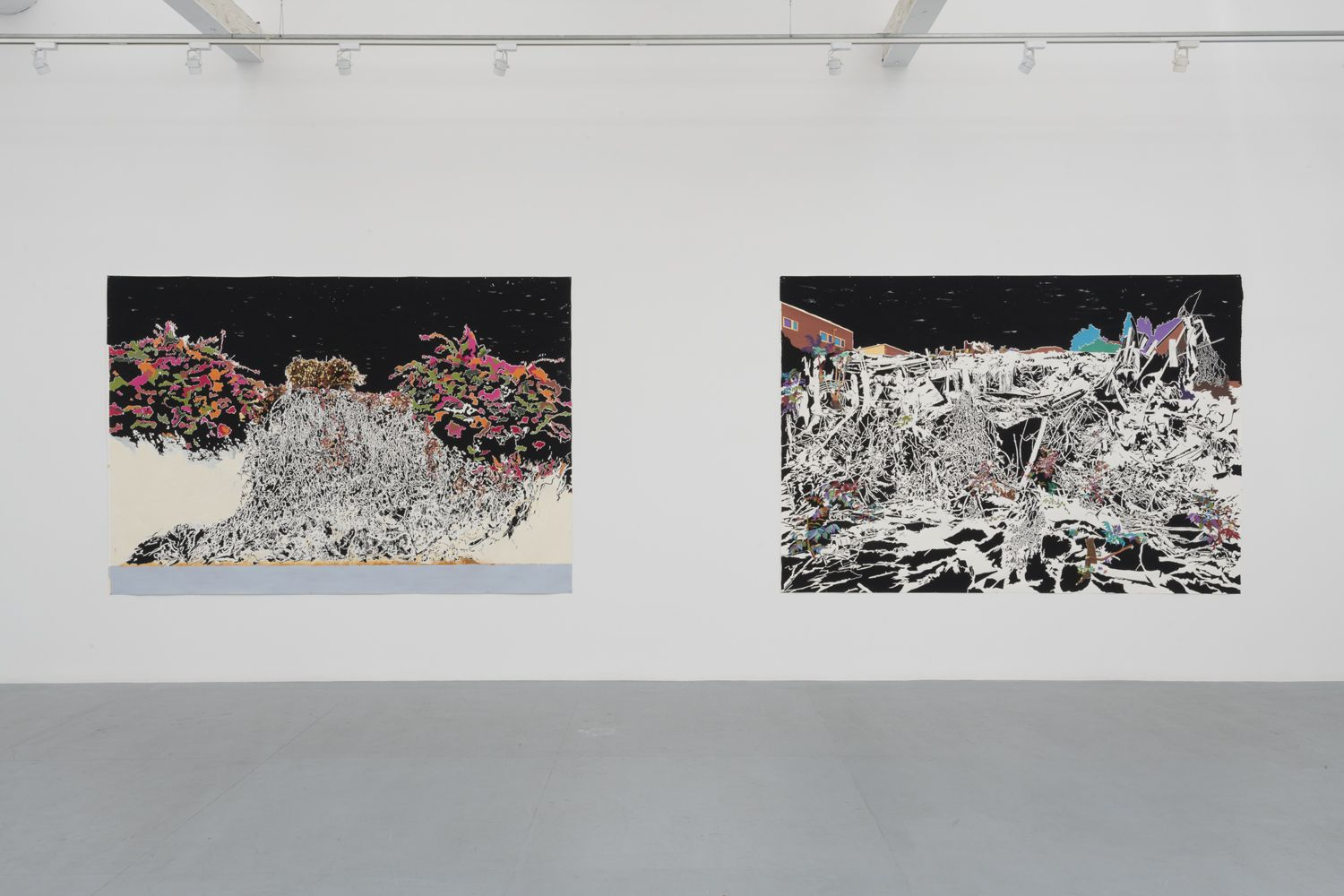 "Installation view of ""Vague Terrains/Urban Fuckups""."