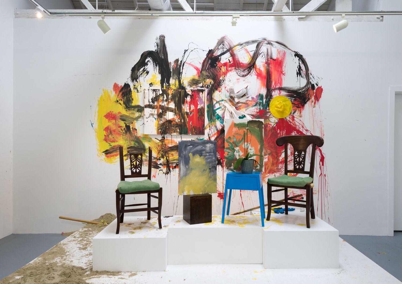 "Installation view of Los Super Elegantes ""I Am The Door"""
