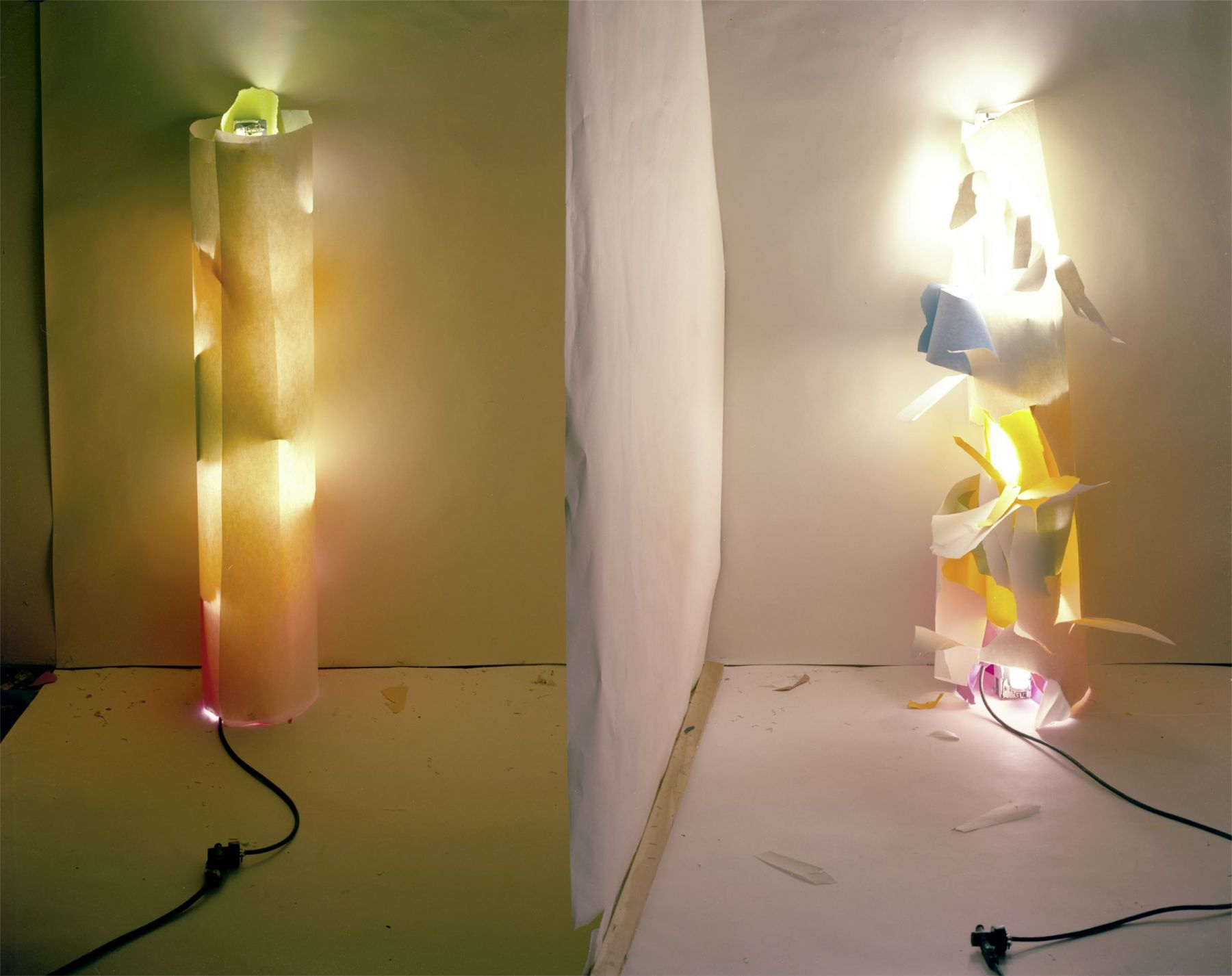 """No. 131, """"Light In and Out of White Tube with Multi Colors Inside"""", 1979/2012"""