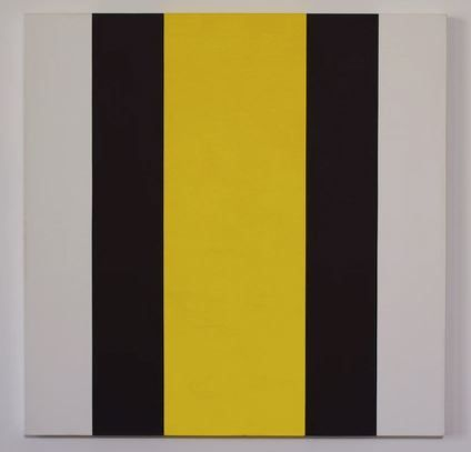 Mary Corse, Untitled (Yellow Inner Band), 2000