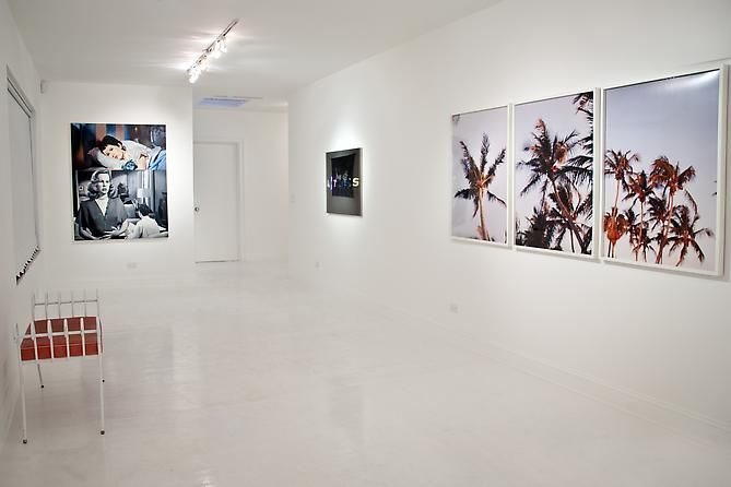 """Installation view """"The Palm Beach Beach Story, or Whatever Happened to Baby Jane"""", 2012"""