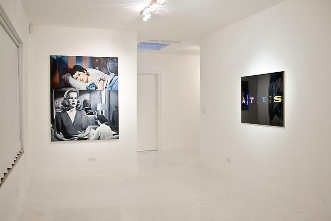"Installation view ""The Palm Beach Beach Story, or Whatever Happened to Baby Jane"", 2012"