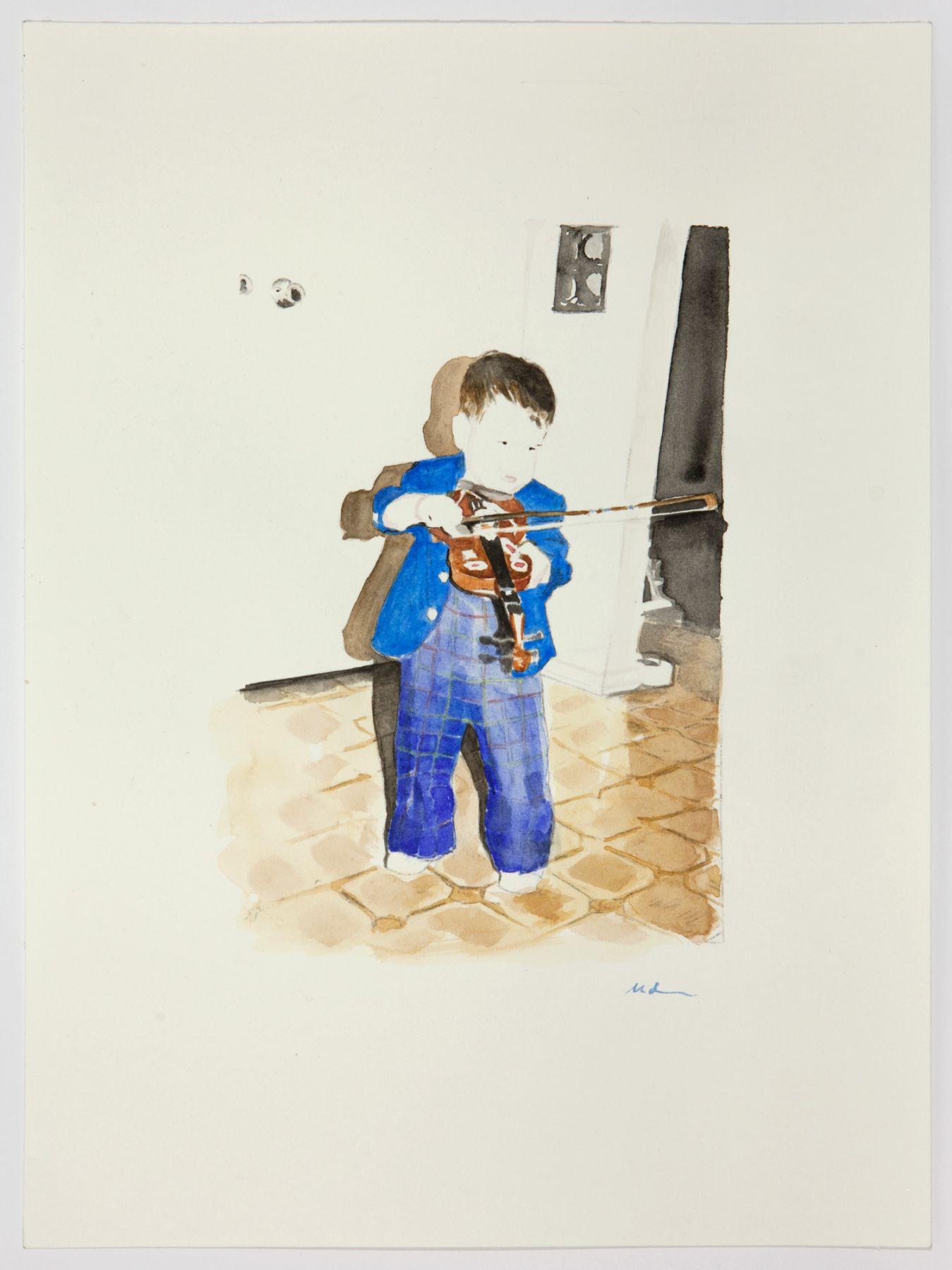 Plaid Onesie, 2014, Watercolor on paper