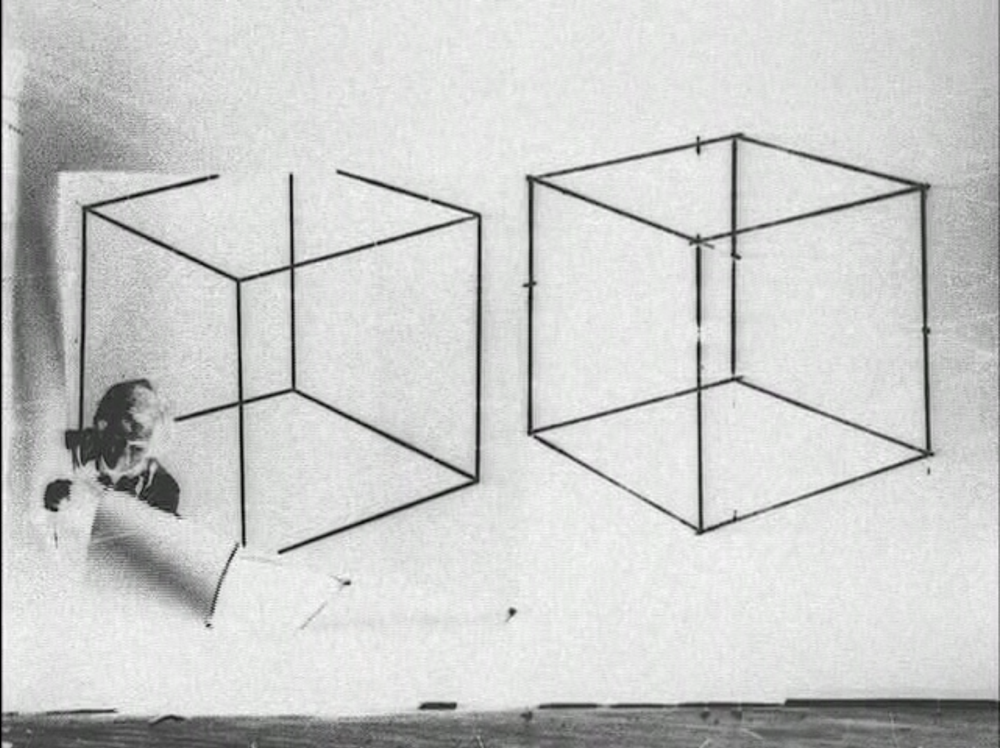 Cubes, 1977 Black and white 16mm film transferred to DVD