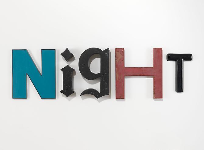 Night, 2009 Metal and plastic