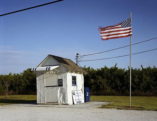 "Lisa Anne Auerbach, Ochopee Post Office, from series ""Along the Dixie Highway,"" 2007"
