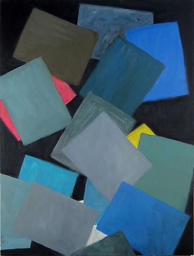 Paper at Night (two grey, two blue), 2008