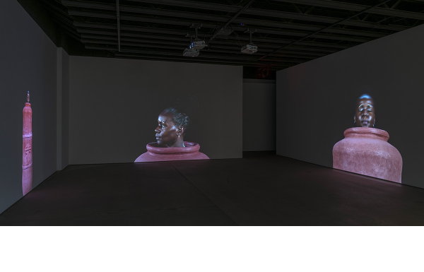 Installation view,Simone Leigh: I ran to the rock to hide my face the rock cried out no hiding place, Kansas City Art Institute