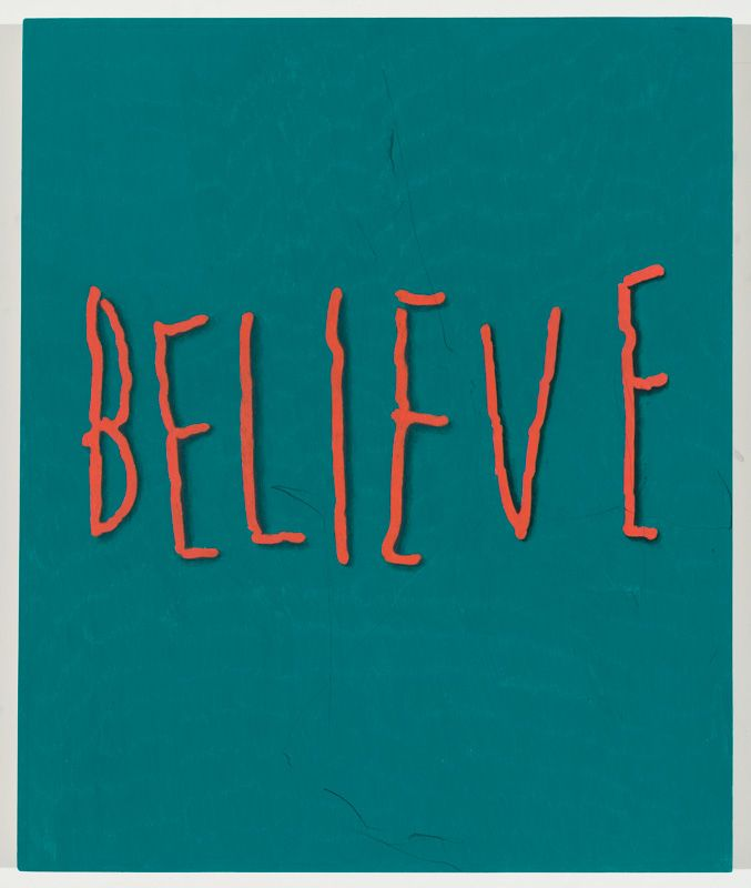 Believe, 2015 Colored pencil and graphite on panel