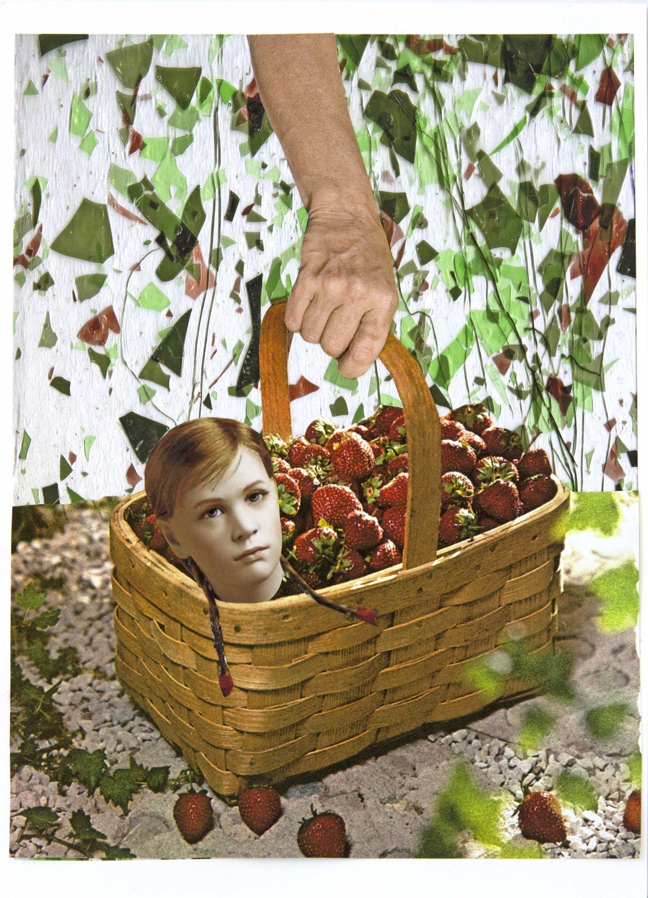 Basket of Hope, 2016, Collage on archival pigment print