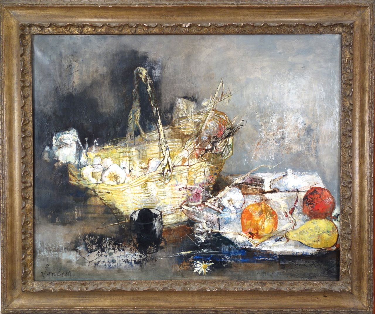 Jean Jansem Still Life with Basket