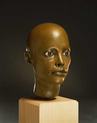 Untitled, 1991-1994 bronze, glass