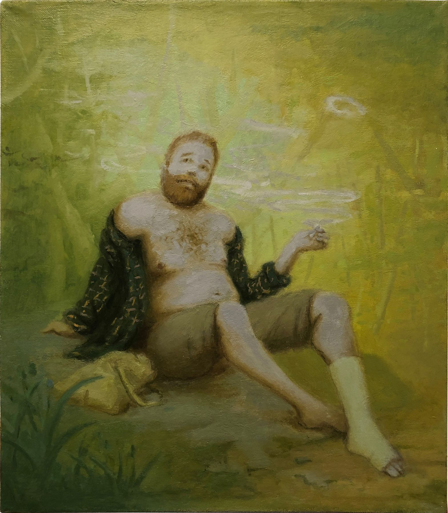 Kyle Coniglio, Bear with broken ankle, 2019