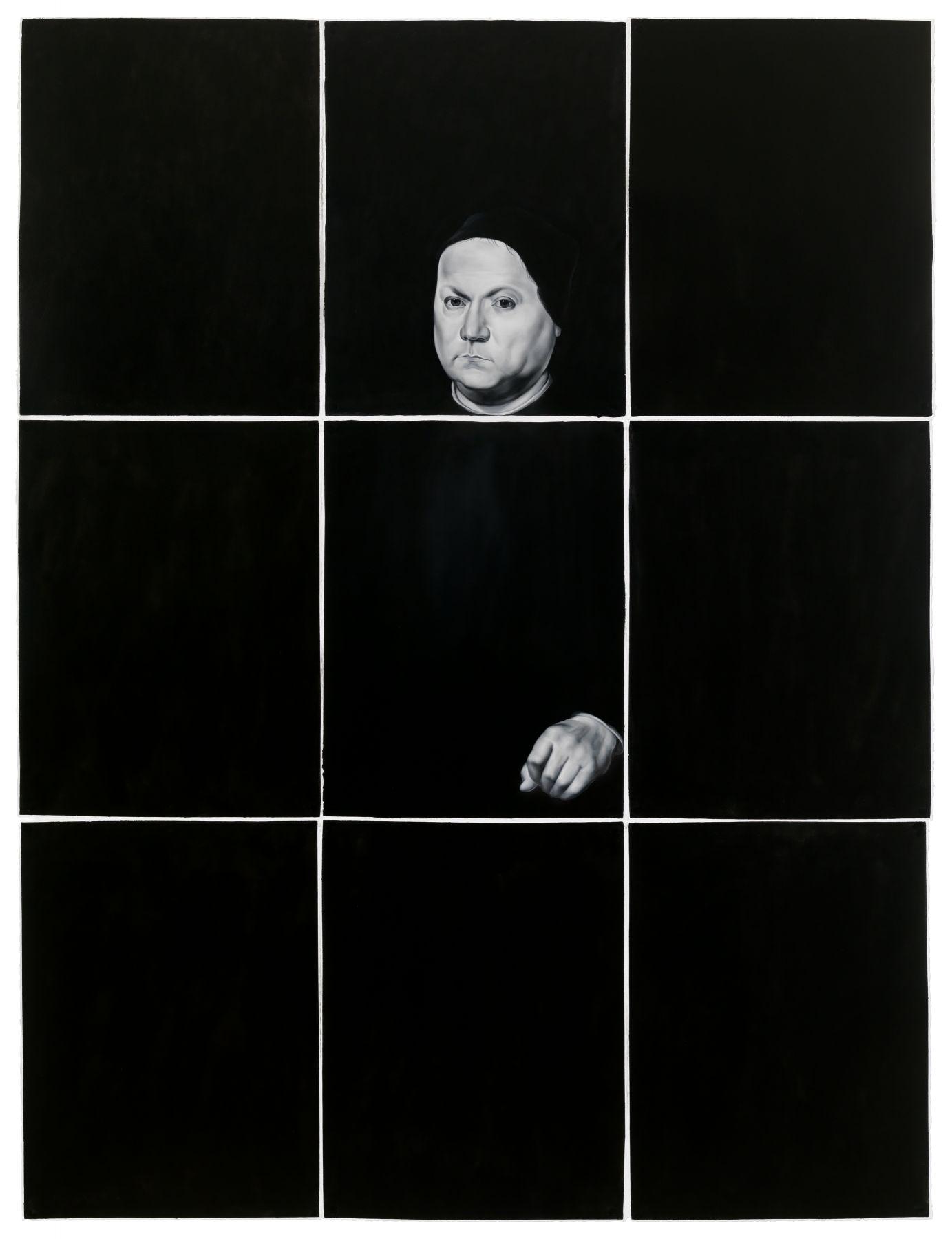 Shelley Reed, Man (after Perugino), 2017