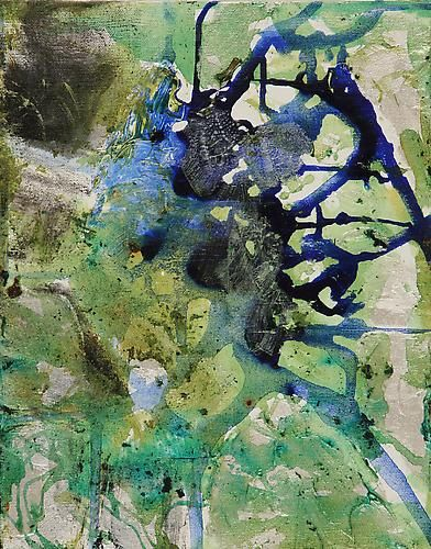 Map,2010,acrylic on canvas,14 x 11 inches