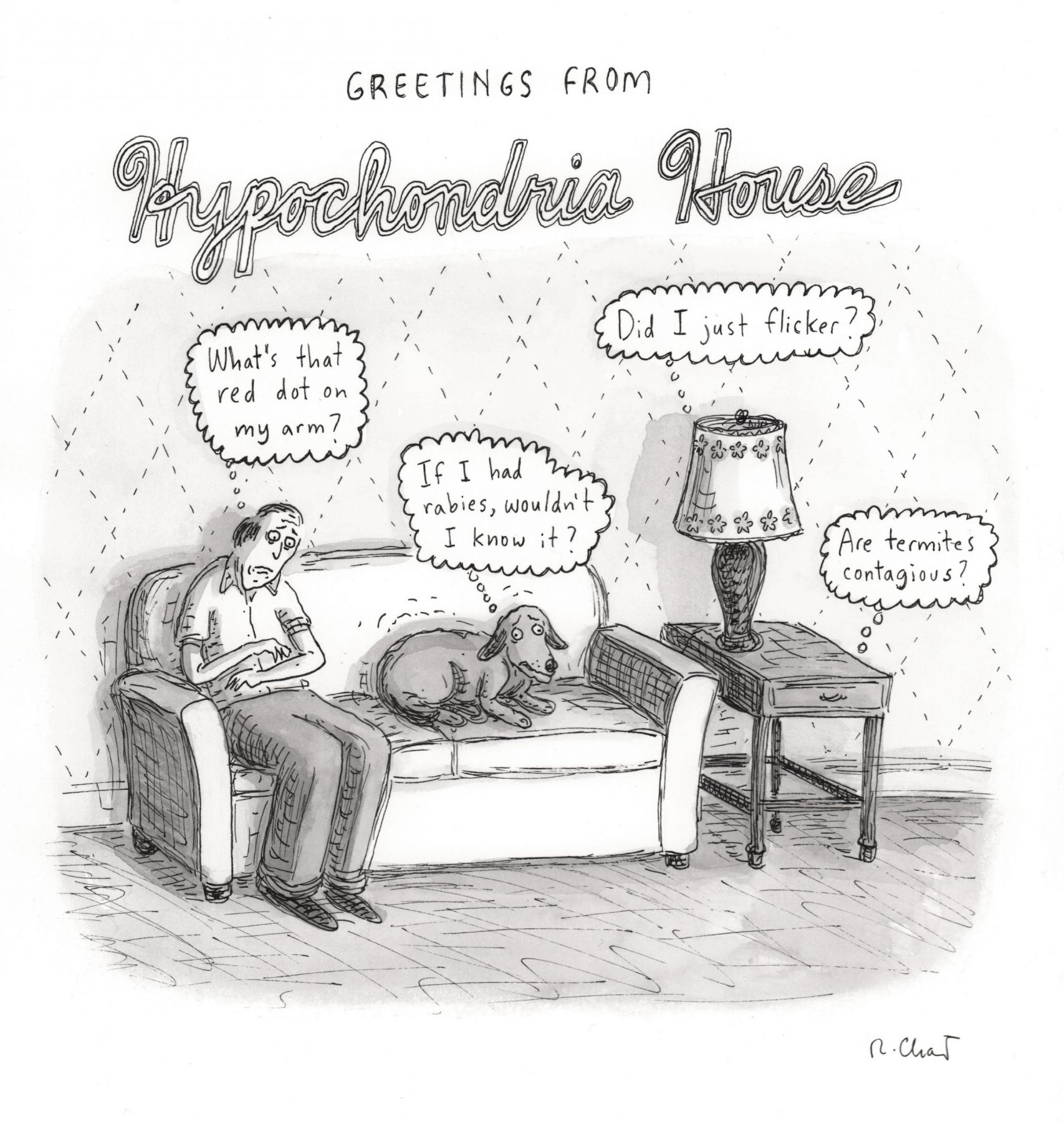 Roz Chast, Hypochondria House, published December 24, 2007