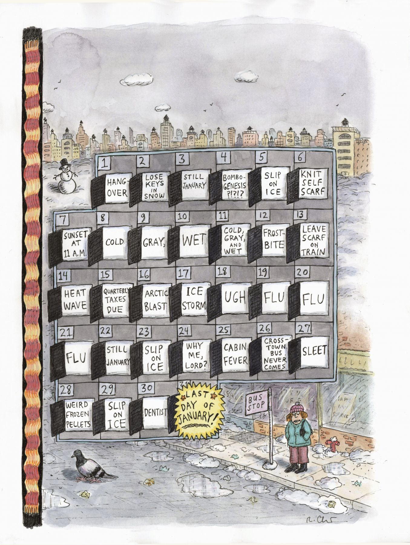 Roz Chast, Last Day of January, 2018