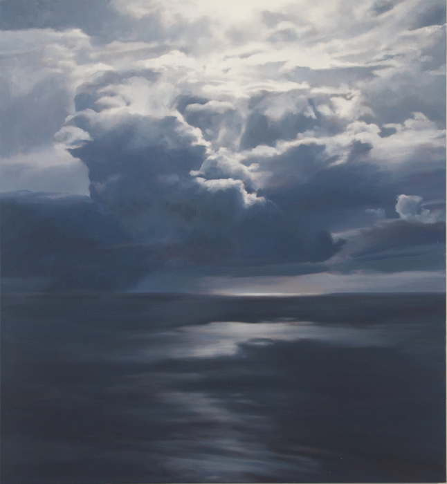 April Gornik, Water World, 2013, oil on linen, 78 x 70 inches
