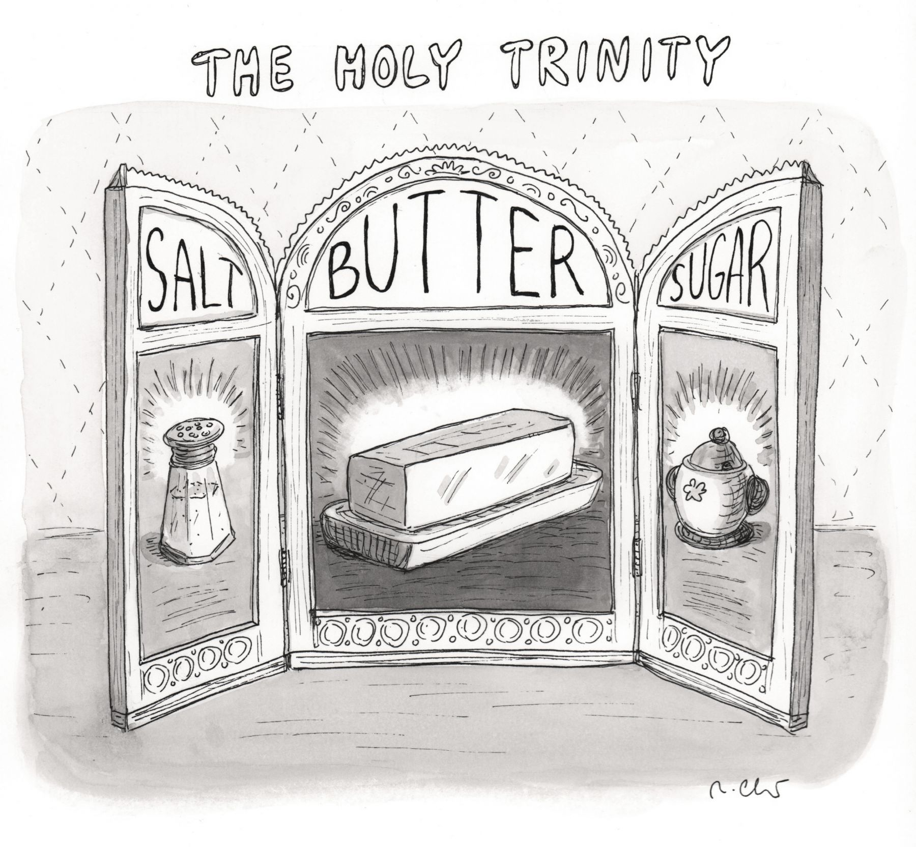 Roz Chast, The Holy Trinity, published June 27, 2011