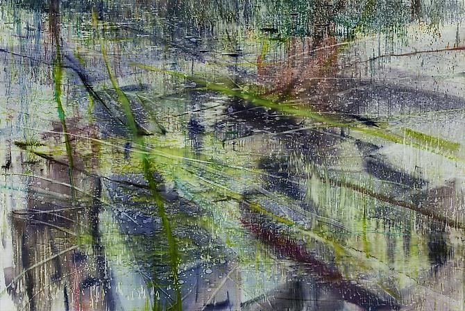 Water Painting 2, 2012,oil on linen,55 x 82 3/4 inches (140 x 210 cm)