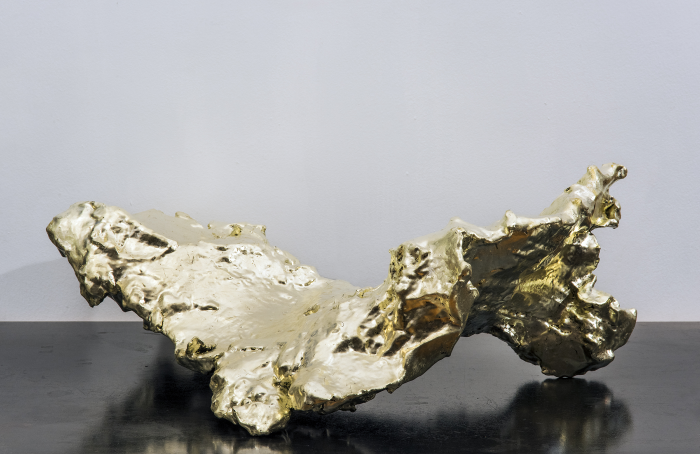 Spent Bullet [Lemon Gold], 2015-16, ABS resin, 18 carat lemon gold, 8.5 x 23.25 x 16 in., ed. of 2