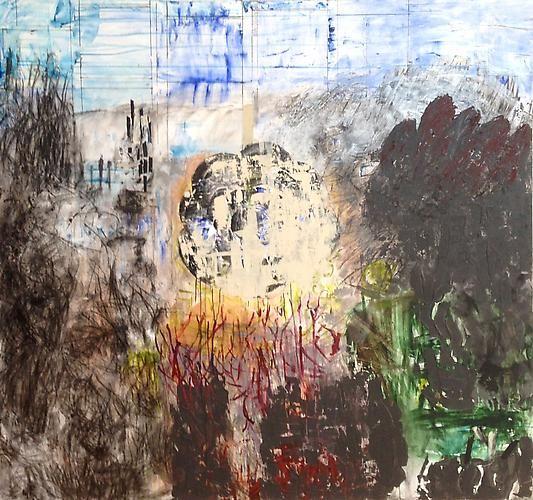 Sammy's Beach VIII,2008,acrylic on canvas,73 x 78 inches