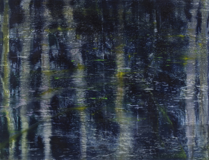 Matthias Meyer, Dark Water Painting 2, 2011, oil on linen, 51 1/4 x 67 inches