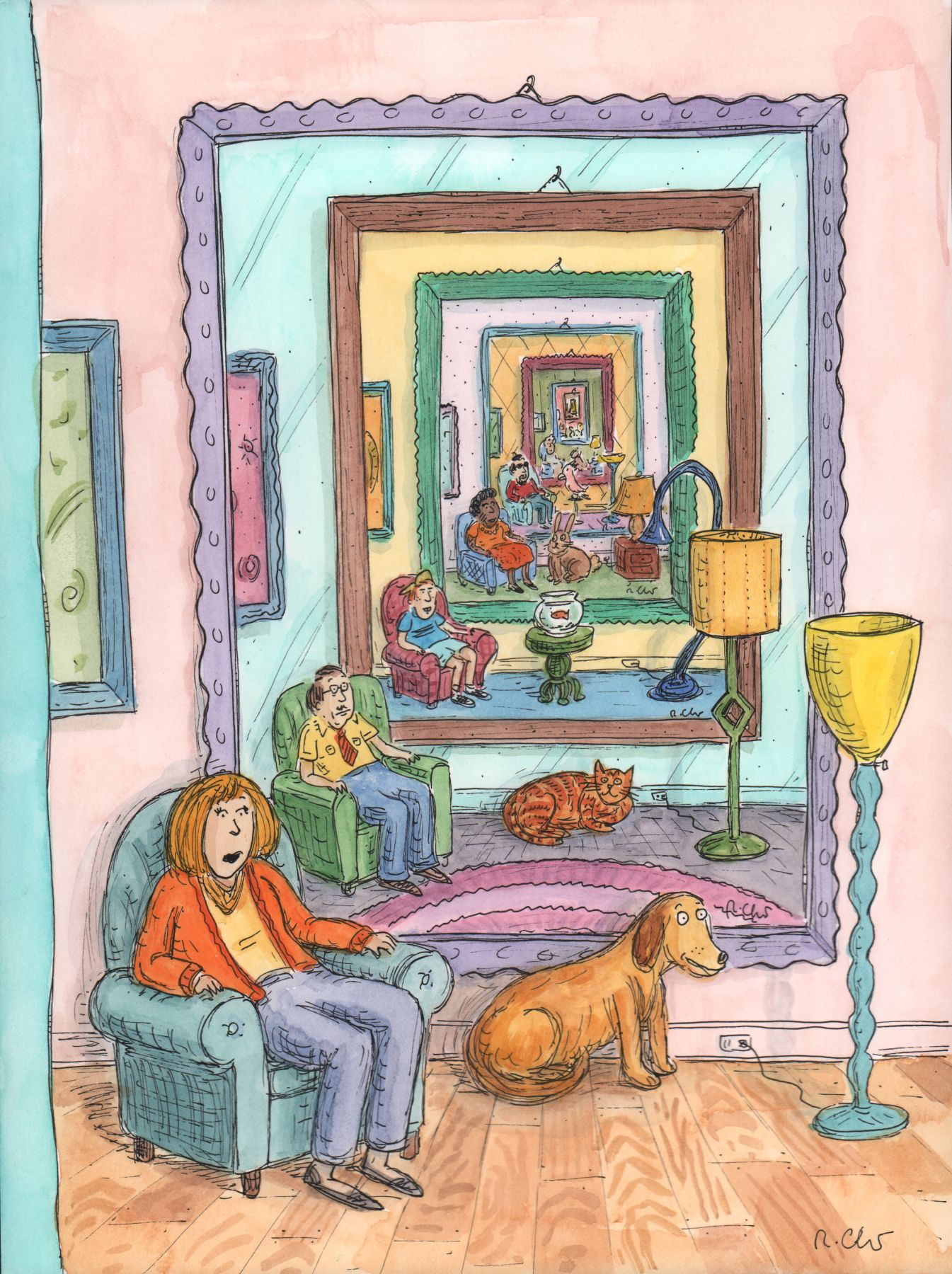 Roz Chast, Infinity Mirror Cover, published Mar. 4, 2013