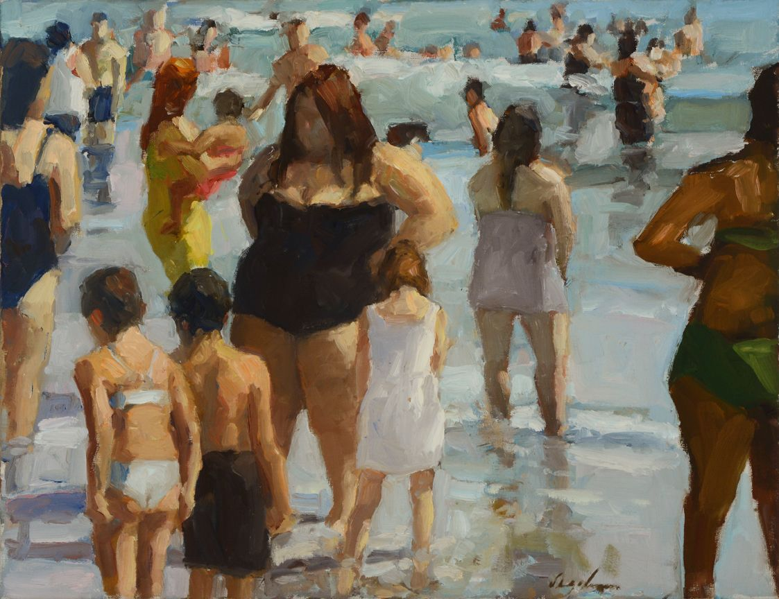 Richard Segalman, Coney Island Surf, 2010, oil on canvas, 20 x 26 inches
