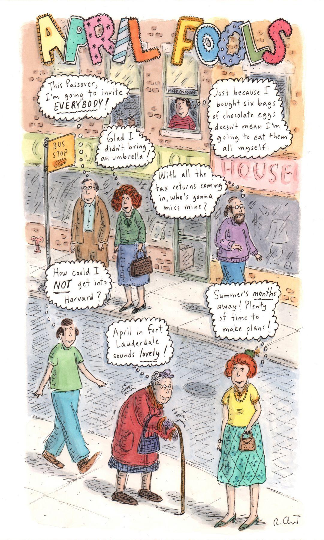 Roz Chast, April Fools, Published April 2, 2007