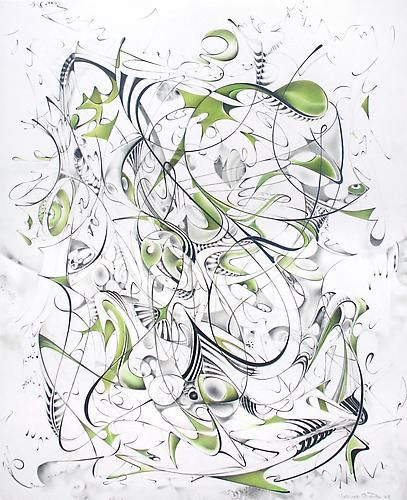 Untitled, 2008, graphite, gouache and inkjet on paper, 17 x 13 inches