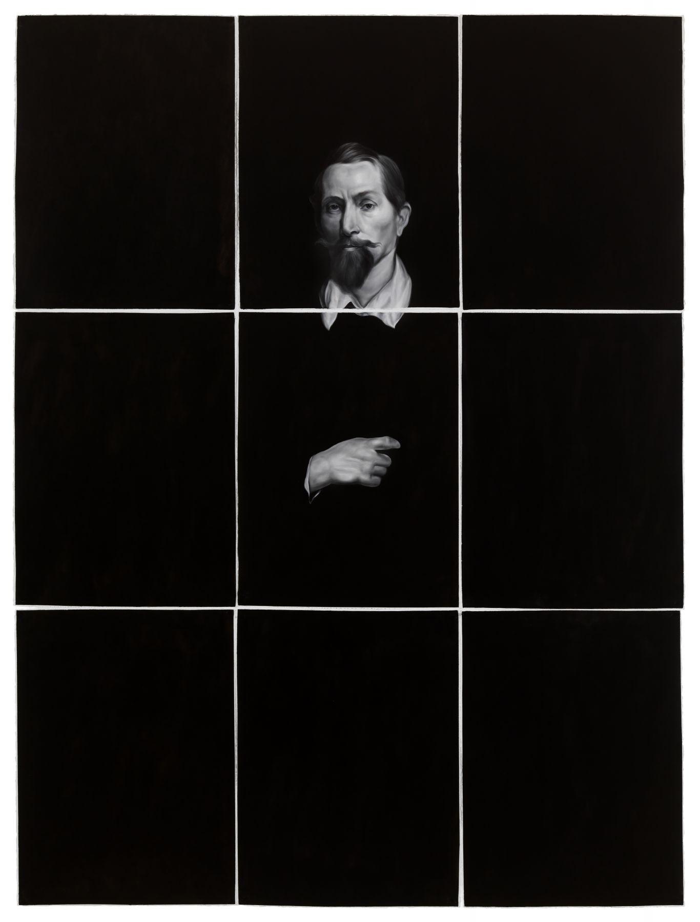 Shelley Reed, Man (after van Dyck), 2017